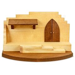 Krippenhaus Mittelteil für 7 cm Figuren