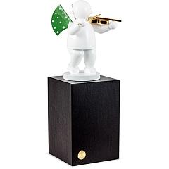 Engel mit Geige auf großem Sockel Edition Klangfarbe Weiß von Wendt & Kühn