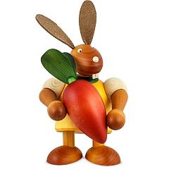 Maxi Hase gelb mit Möhre 24 cm