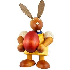 Maxi Hase gelb mit Ei 24 cm
