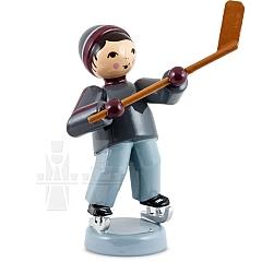 Eishockeyspieler Schläger hoch lila von Ulmik