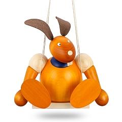 Maxi Hase gelb auf Schaukel 24 cm