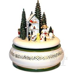 Spieldose Christkind am Spielzeughaus