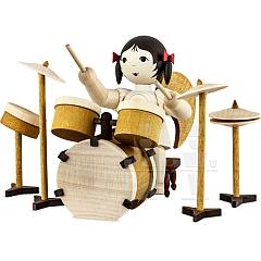Schleifenengel mit Schlagzeug gebeizt