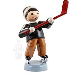 Eishockeyspieler Schläger hoch braun von Ulmik