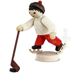 Eishockeyspieler Läufer gebeizt