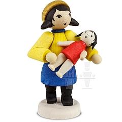 Geschenkemädchen mit Puppe gebeizt