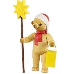 Weihnachtsbär mit Stern stehend