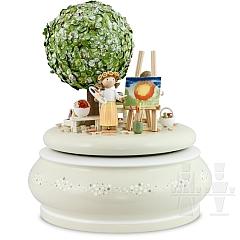 Spieldose Der alte Apfelbaum im Frühling