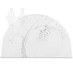 Gläsernes Bild Winter Apfelbaum
