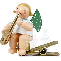 Engel mit Saxophon auf Klemme