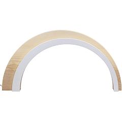 Holz Design LED Bogen groß natur 75 cm breit