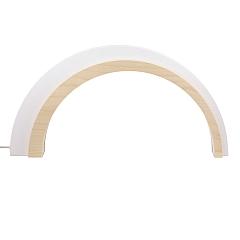 Holz Design LED Bogen weiß