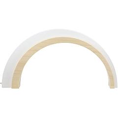 Holz Design LED Bogen groß weiß 75 cm breit