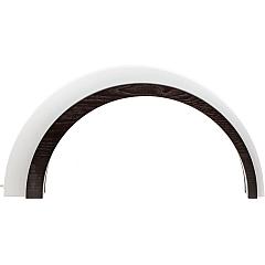 Holz Design LED Bogen groß dunkel 75 cm breit