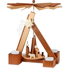 Pyramide Geburt Rosenholz