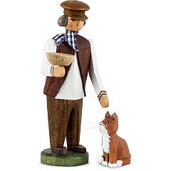 Bauer mit Katze
