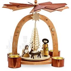Bogenpyramide Teelicht Geburt