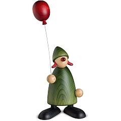 Gratulantin Lina groß mit Luftballon grün