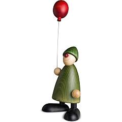 Gratulant Linus groß mit Luftballon grün