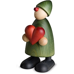 Gratulant Theo groß mit Herz grün