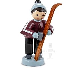 Skiwachser Junge stehend lila von Ulmik