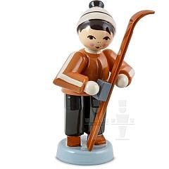 Skiwachser Junge stehend braun von Ulmik