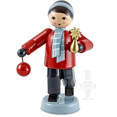 Baumschmuck Verkäufer Junge stehend rot von Ulmik