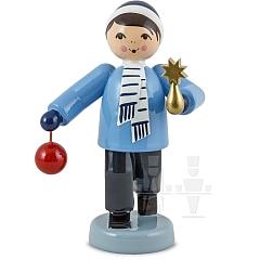 Baumschmuck Verkäufer Junge stehend blau von Ulmik