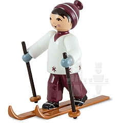 Skifahrer lila von Ulmik