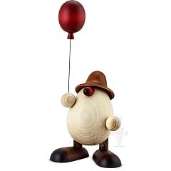 Eierkopf Otto mit Luftballon braun 15 cm