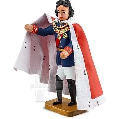 Ludwig der II. der Bayernkönig roter Mantel