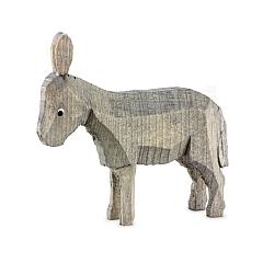 Esel stehend gebeizt für 7 cm Krippenfiguren