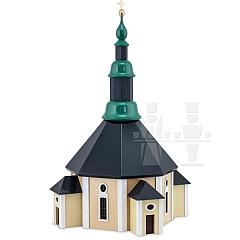 Seiffener Kirche farbig lackiert