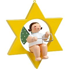 Engel mit Triangel im Stern
