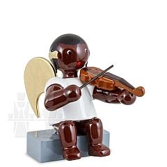 Afrikaner Engel sitzend mit Geige 6 cm