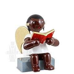 Afrikaner Engel sitzend mit Buch 6 cm