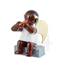 Afrikaner Engel sitzend mit Blockflöte 6 cm