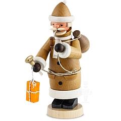 Räuchermann Weihnachtsmann braun