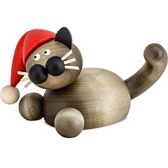 Weihnachtskatze Karli auf der Lauer groß