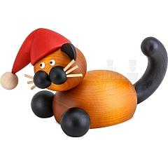 Weihnachtskatze Bommel auf der Lauer groß