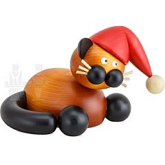 Weihnachtskatze Schmuse Bommel groß