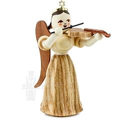 Faltenlangrockengel Naturholz Violine