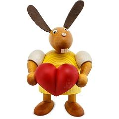Hase mit Herz gelb 11 cm