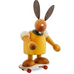 Maxi Hase gelb mit Skateboard 24 cm