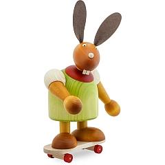 Maxi Hase grün mit Skateboard 24 cm