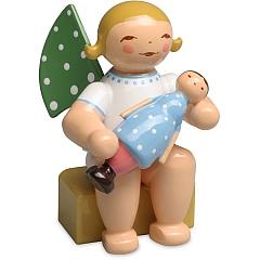 Kalenderfigur 2018 Engel mit Puppe