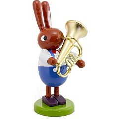 Hase mit Tuba 8 cm