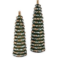 Bäumchen zum Weihnachtsmarkt grün/weiß/gold