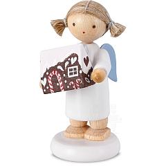 Engel mit Pfefferkuchenhaus